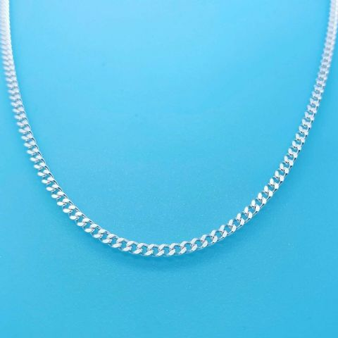 Genuine Hallmarked 925 Sterling Silver Traditional Curb Chain ( in Diff Lengths)